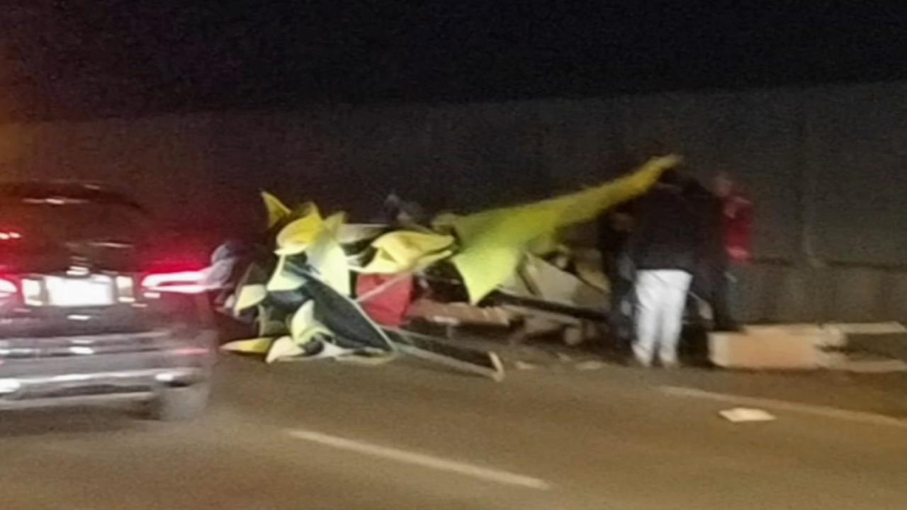 Dragon float smashed on I-95 in Port Richmond