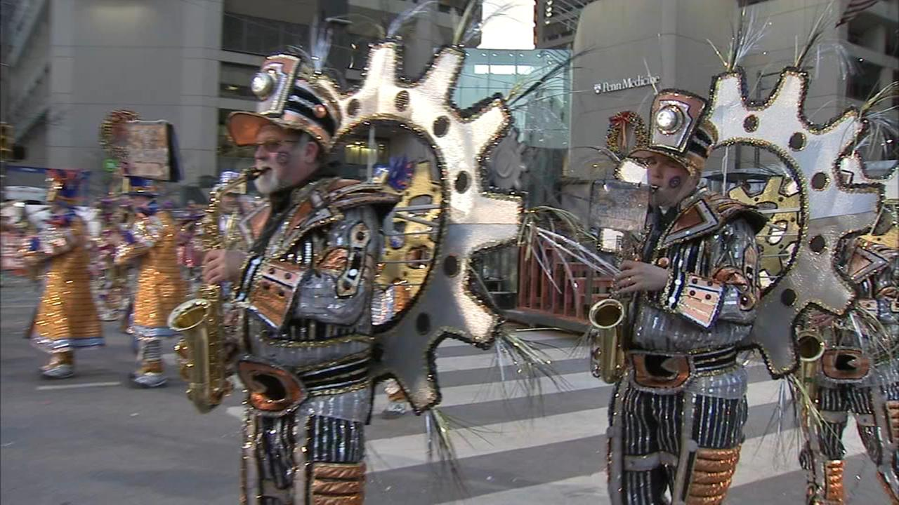 Mummers brave cold temperatures