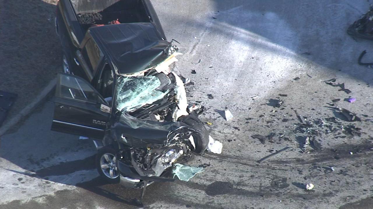 Dump truck, pickup truck crash head-on in N.J.