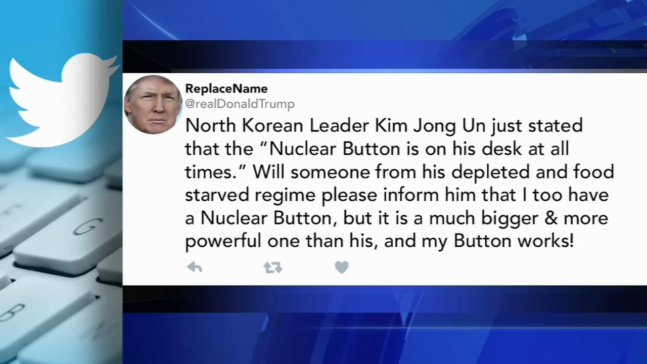 Trump tweets about bigger nuclear button