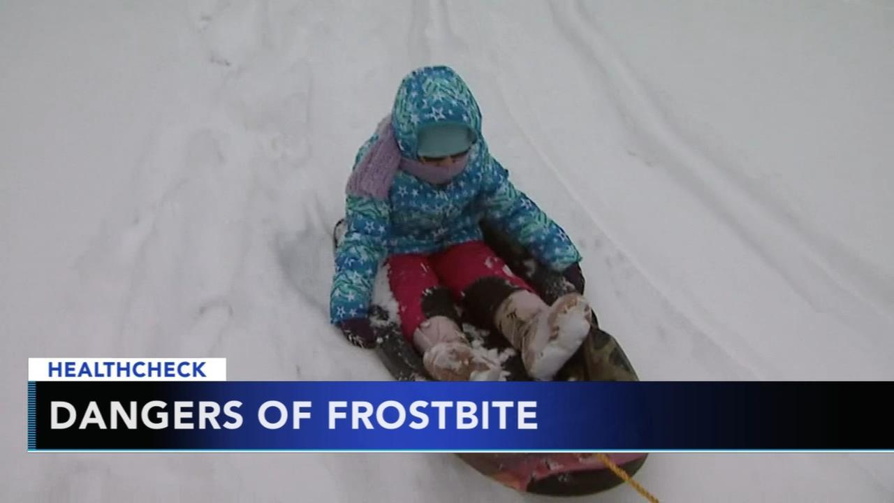 Frostbite concerns in frigid temperatures