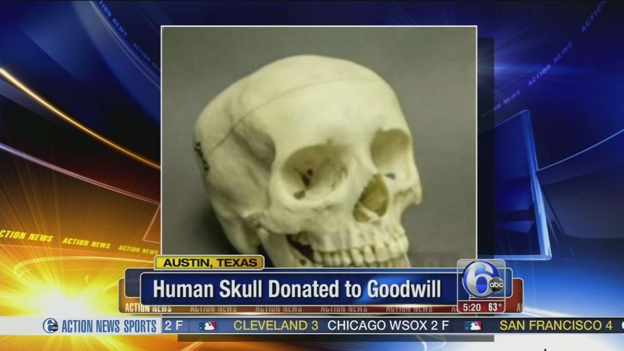 VIDEO: Mystery human skull donated to Goodwill
