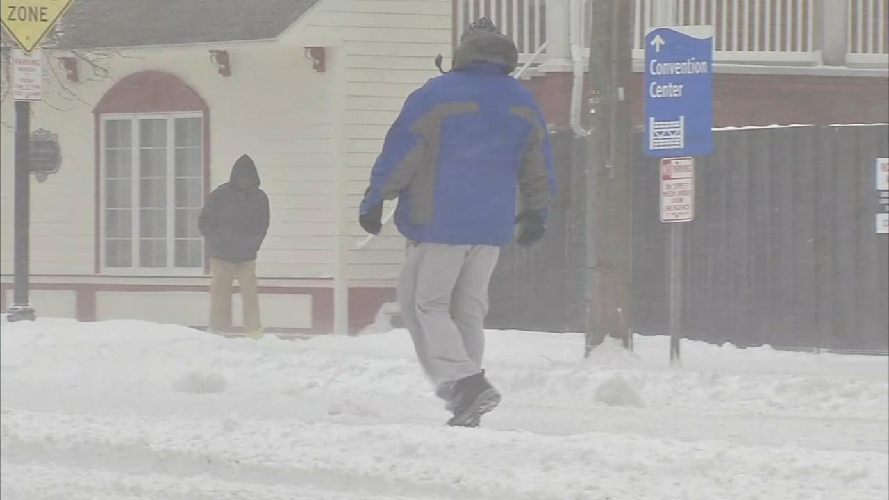 Atlantic City suffers large snow drifts