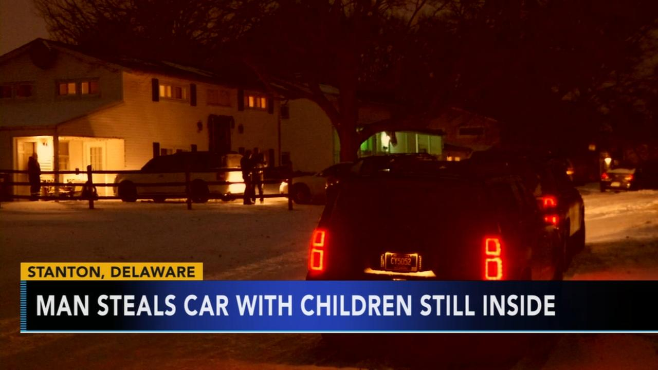 Delaware children left inside stolen vehicle found uninjured