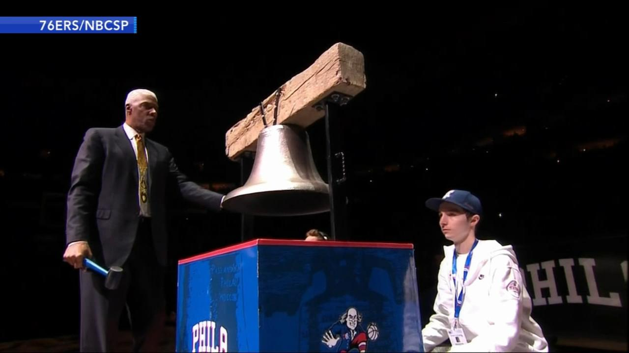 Sixers legend Julius Erving hospitalized after ringing bell at Sixers game