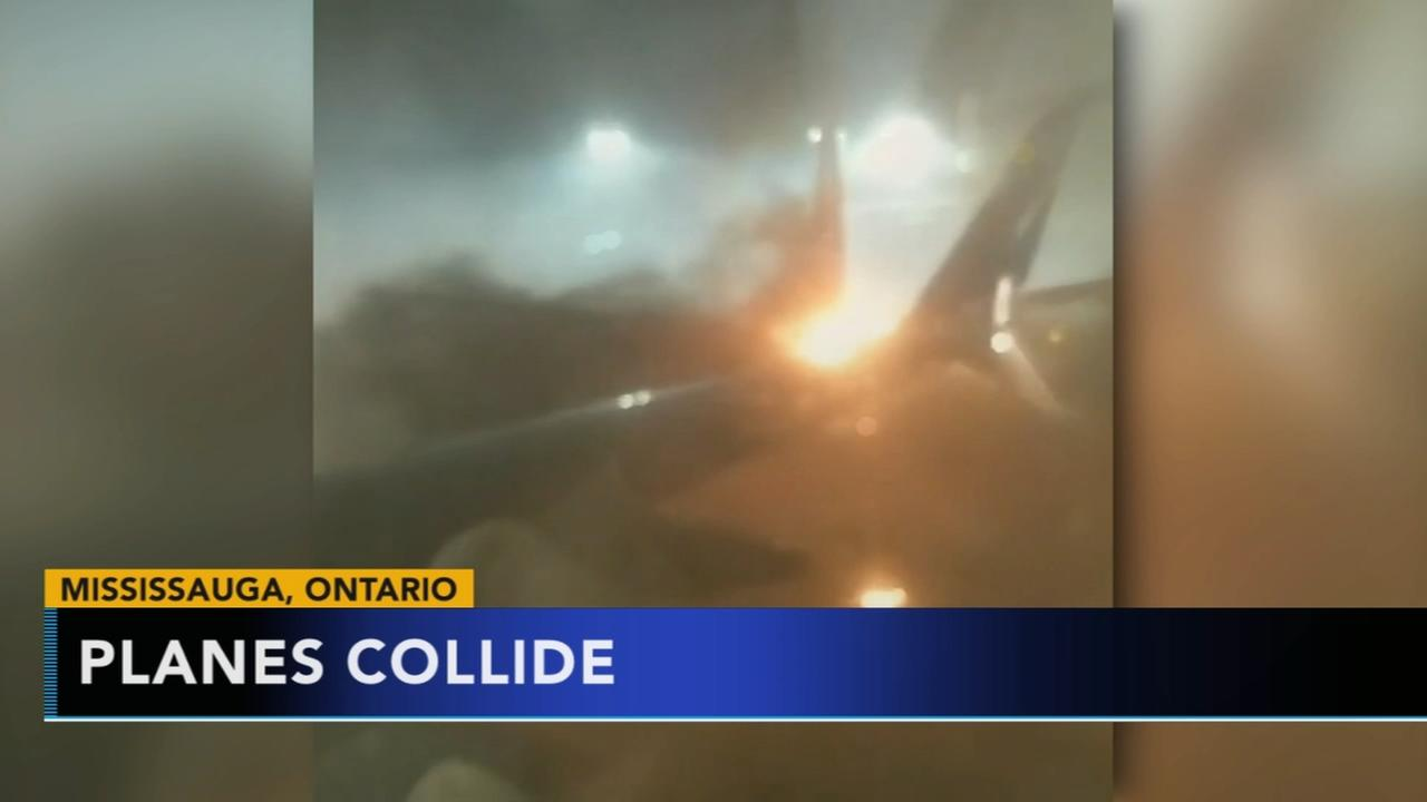 2 planes collide on the ground at Torontos airport