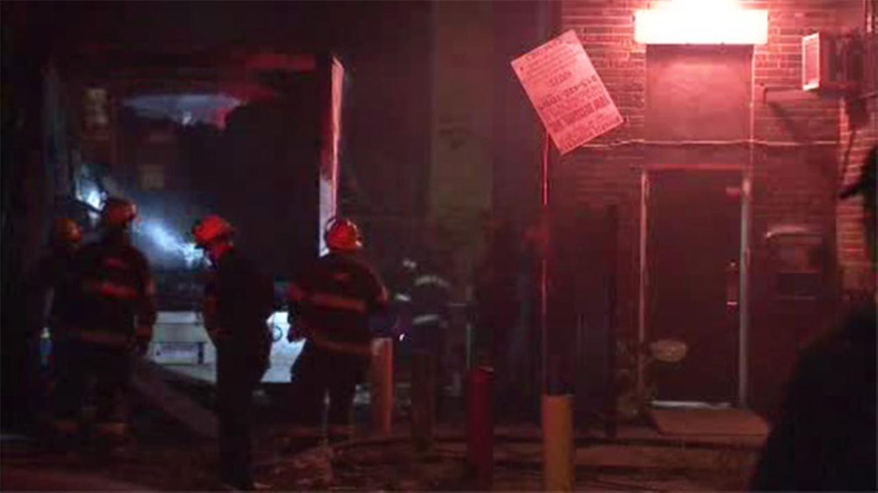 U-Haul truck fire in North Philadelphia