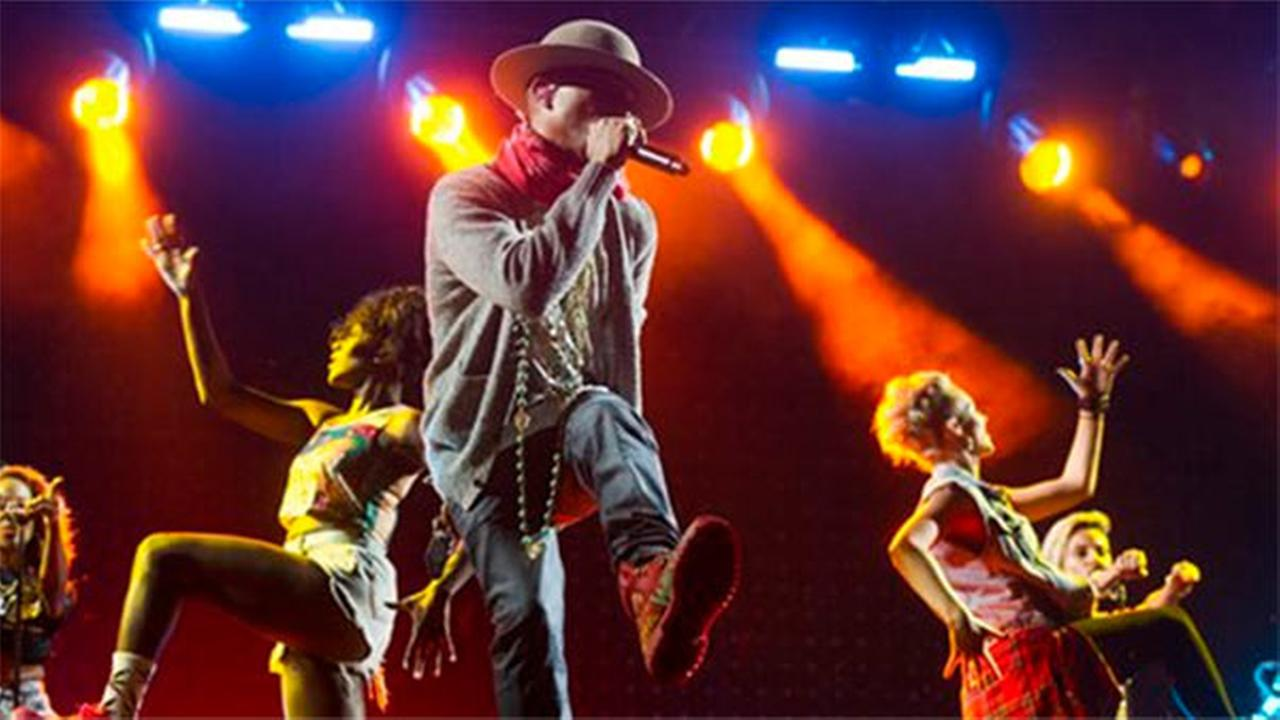 Pharrell Williams performs on day two of the Budweiser Made in America Festival on Sunday, Aug. 31, 2014 in Philadelphia.