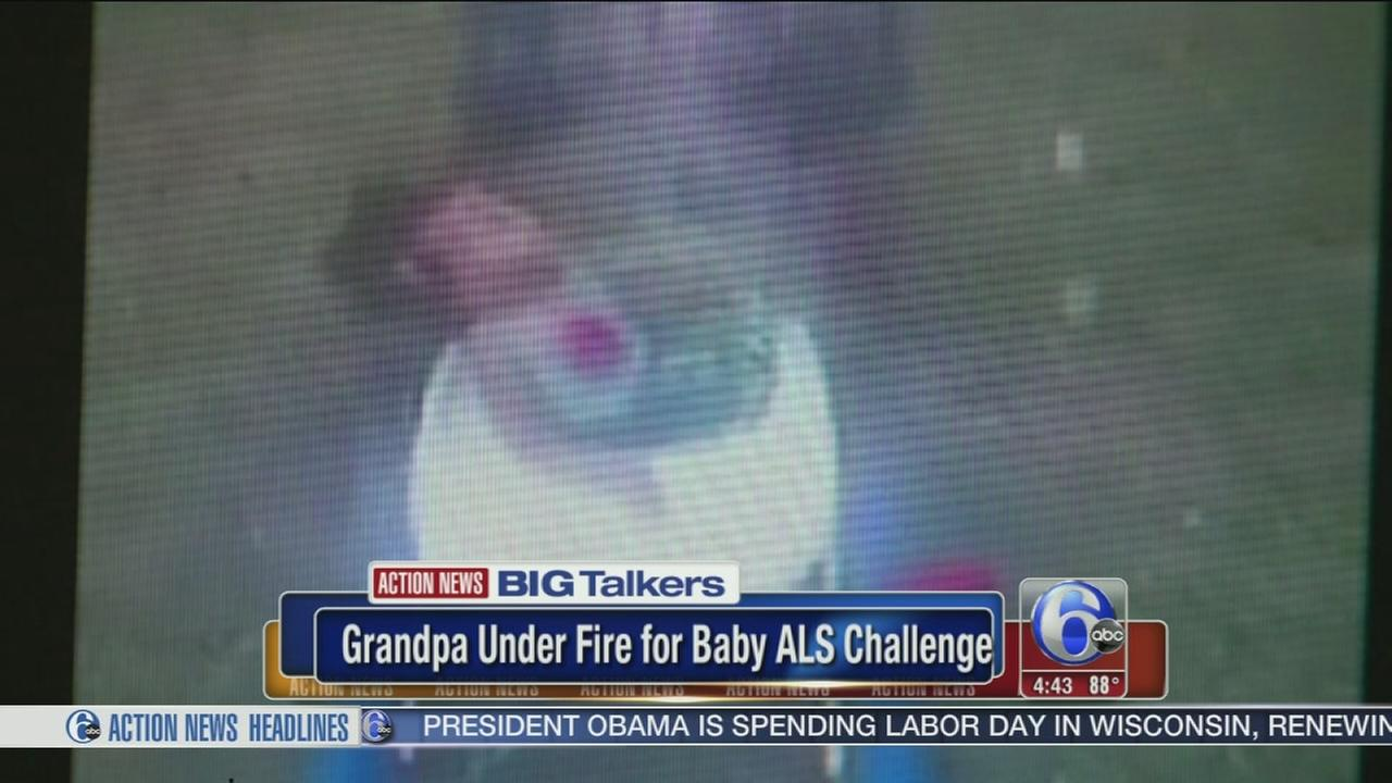 VIDEO: Baby doused with ice water in ALS Challenge