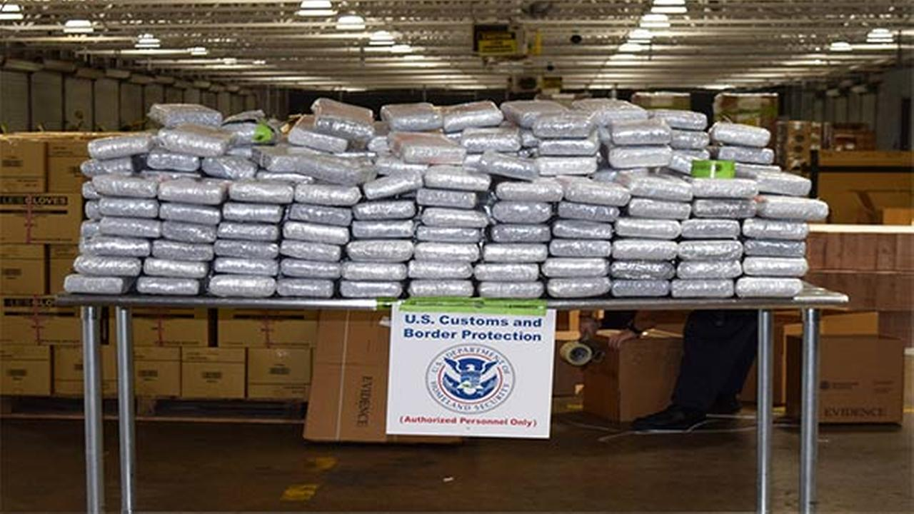 Philadelphia Customs and Border Protection discovers more than 700 lbs. of cocaine concealed in shipping containers