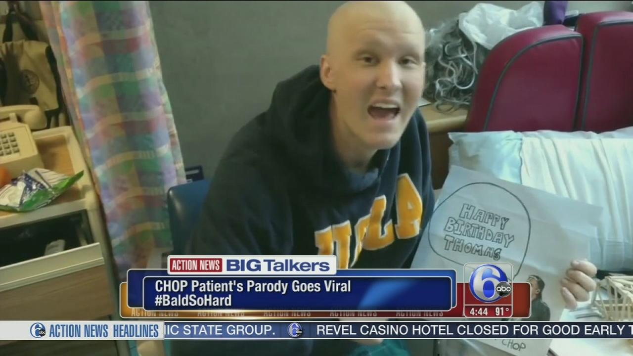 VIDEO: Teen with cancer channels Jay-Z for Bald So Hard