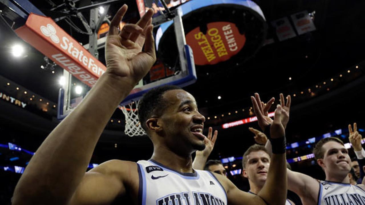 Villanovas Phil Booth celebrates after an NCAA college basketball game against Xavier, Wednesday, Jan. 10, 2018, in Philadelphia. Villanova won 89-65.
