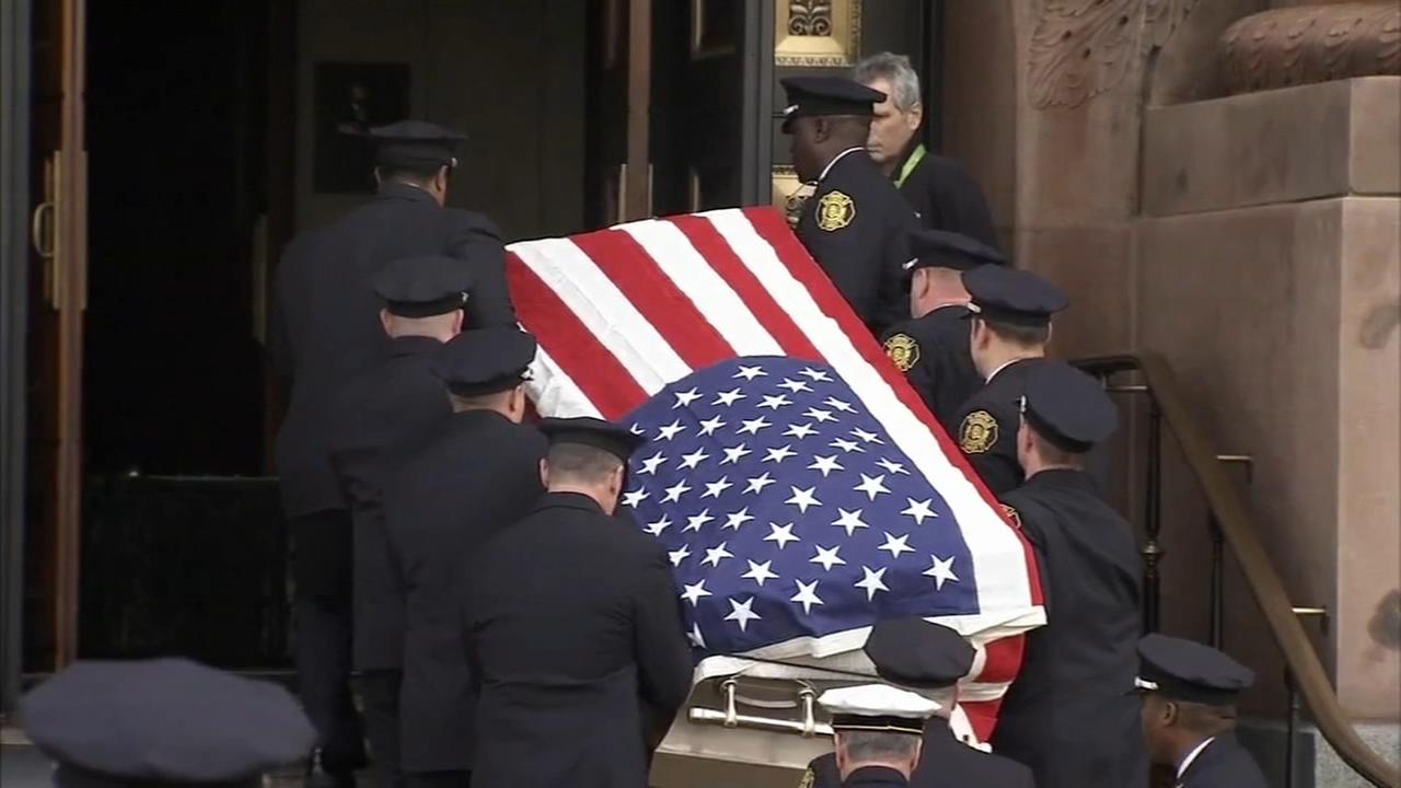 Hundreds turn out for fallen firefighter
