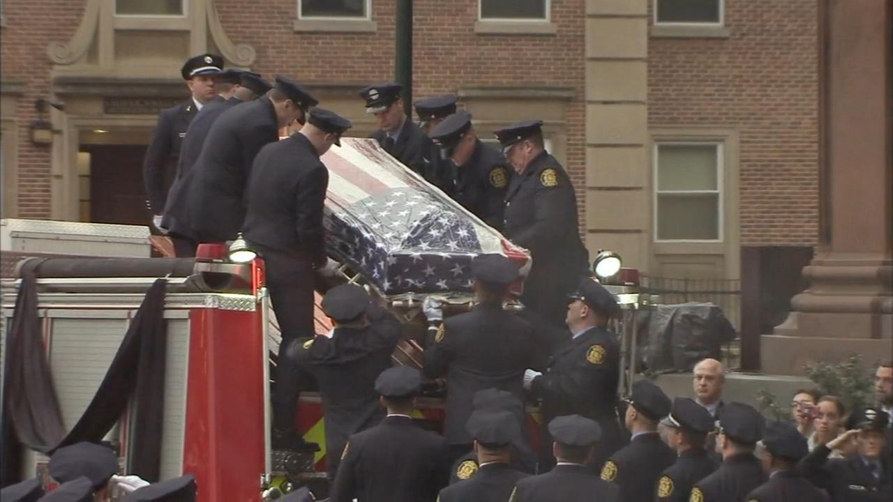 Funeral mass honors fallen Philadelphia firefighter