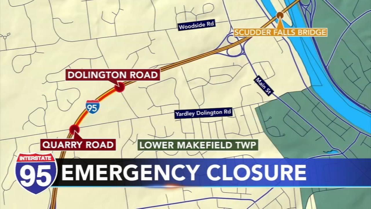 Pavement damage causes emergency I-95 lane closures