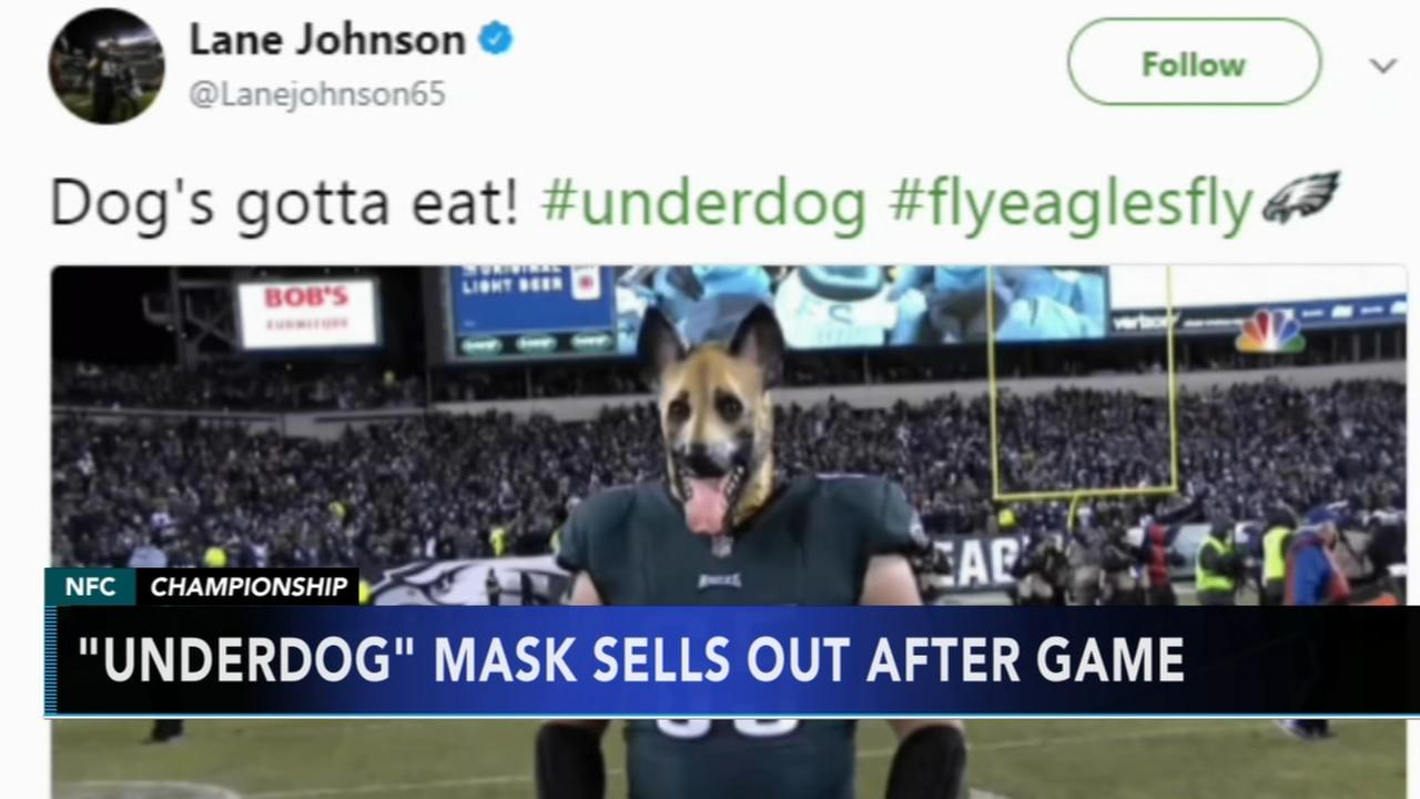Underdog mask sells out in advance of championship game