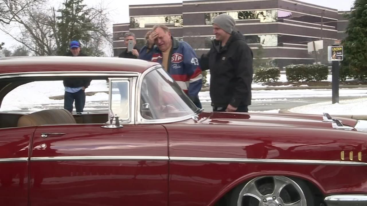 Man restores grandfathers 1957 Chevy Bel Air