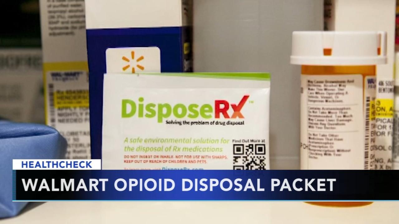 Walmart offering opioid disposal packet