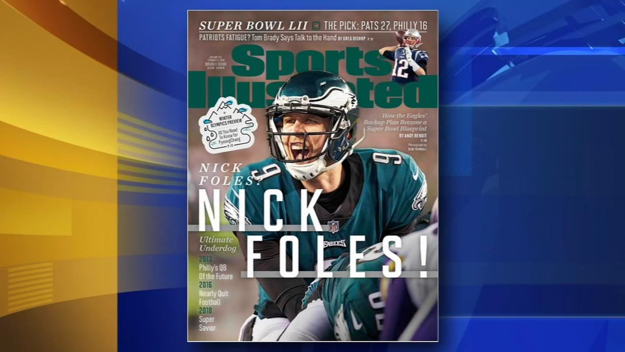 Nicks Foles on cover of Sports Illustrated
