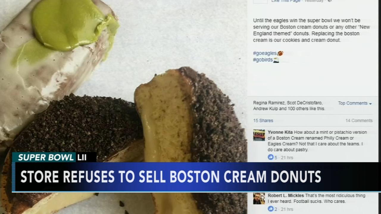 Local shop wont sell Boston cream donuts ahead of Super Bowl