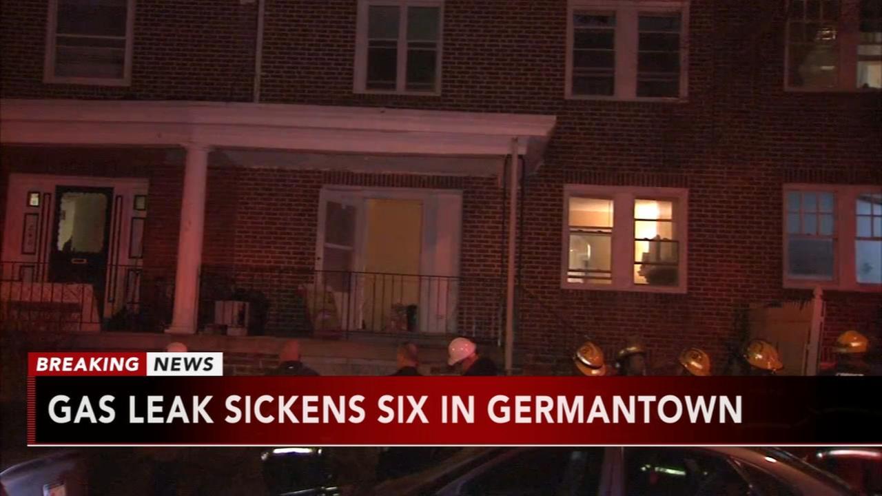 Gas leak sickens 6 in Germantown