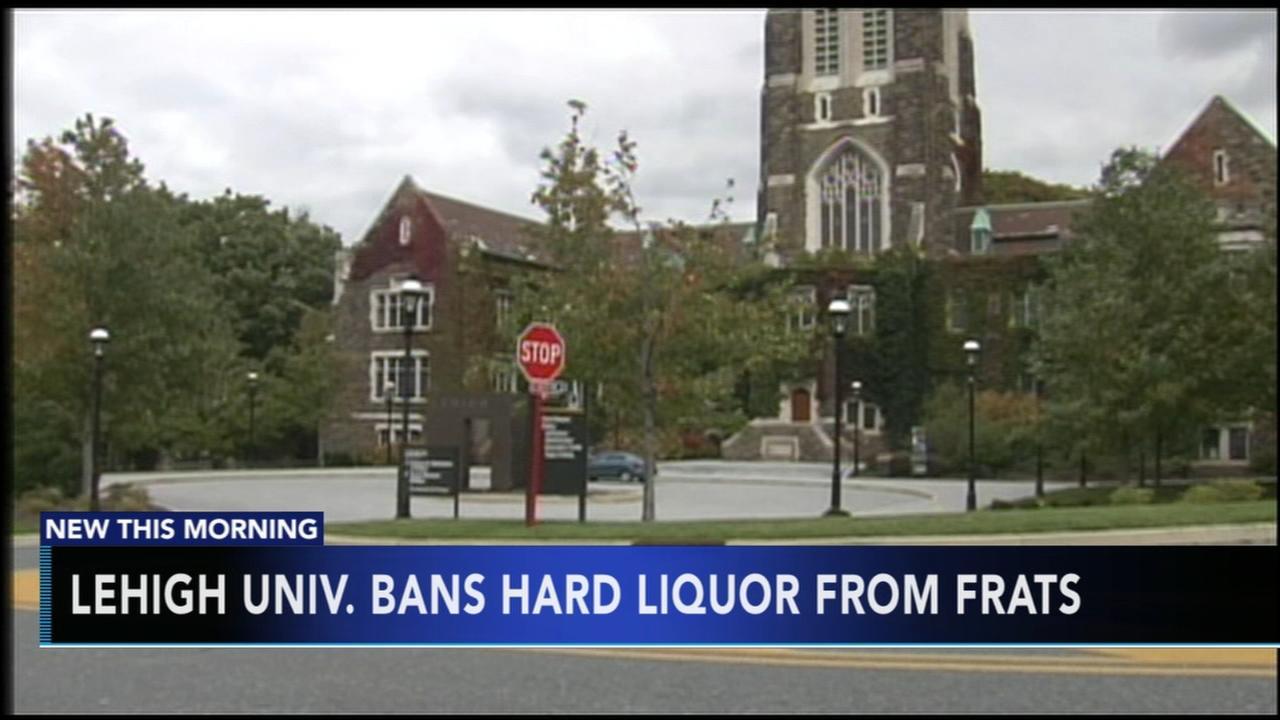 Lehigh University bans hard liquor from fraternities