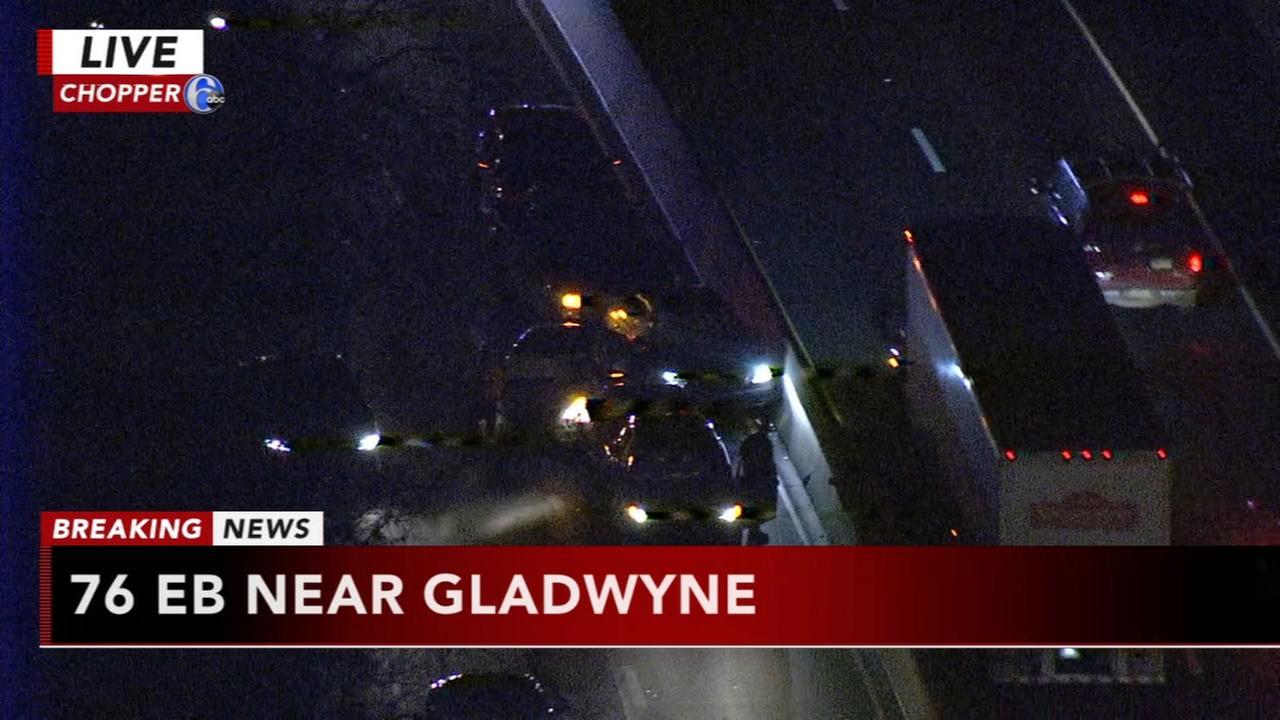 Multi-vehicle crash on I-76 EB
