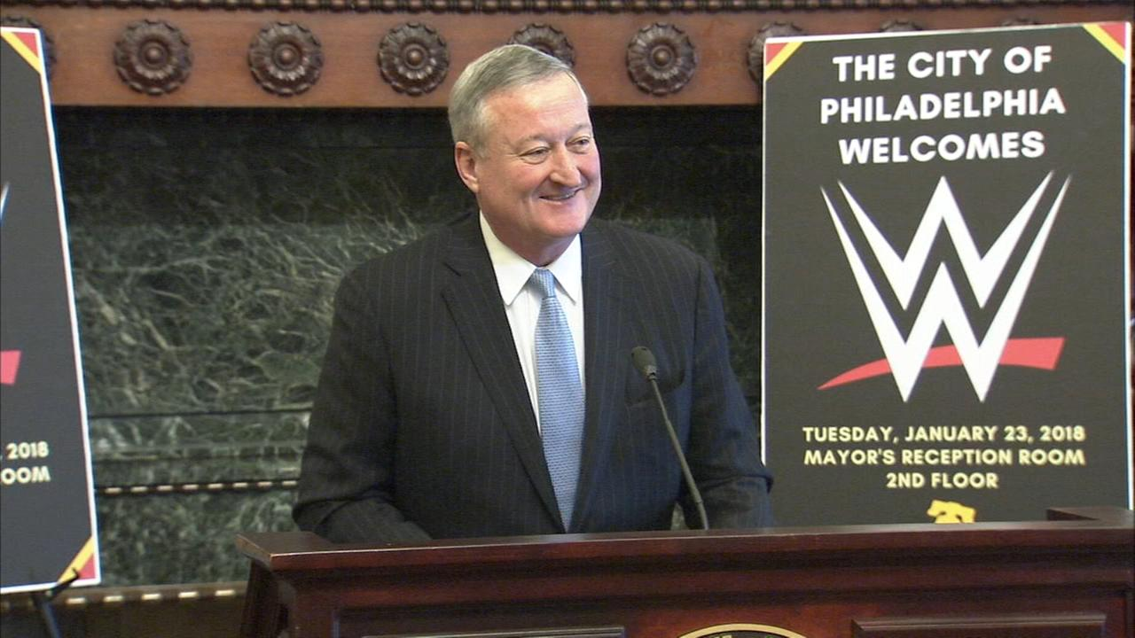 Mayor Kenney declares WWE Royal Rumble Week in Philly
