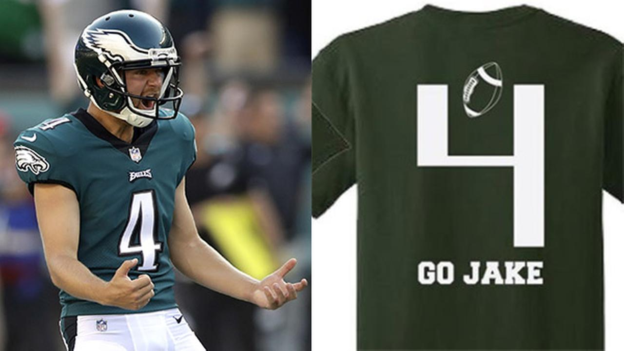 Eagles kicker Jake Elliott's high school selling t-shirt for good cause
