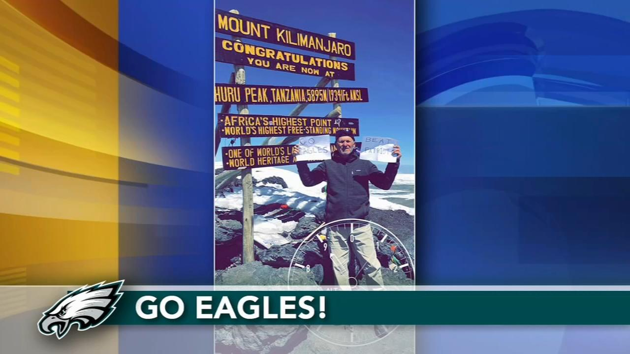 VIDEO: Eagles fan shows pride from top of Kilimanjaro