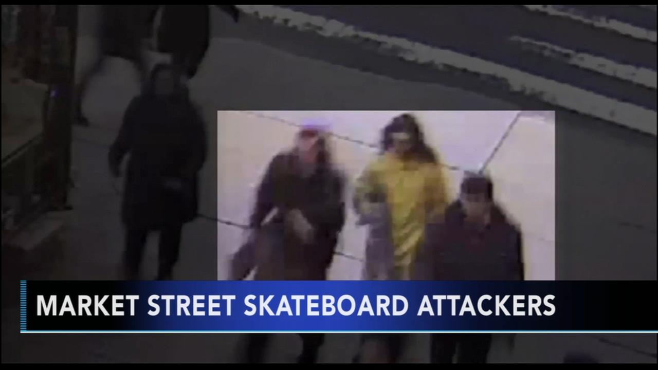 Police: Suspects sought for attacking man with skateboard