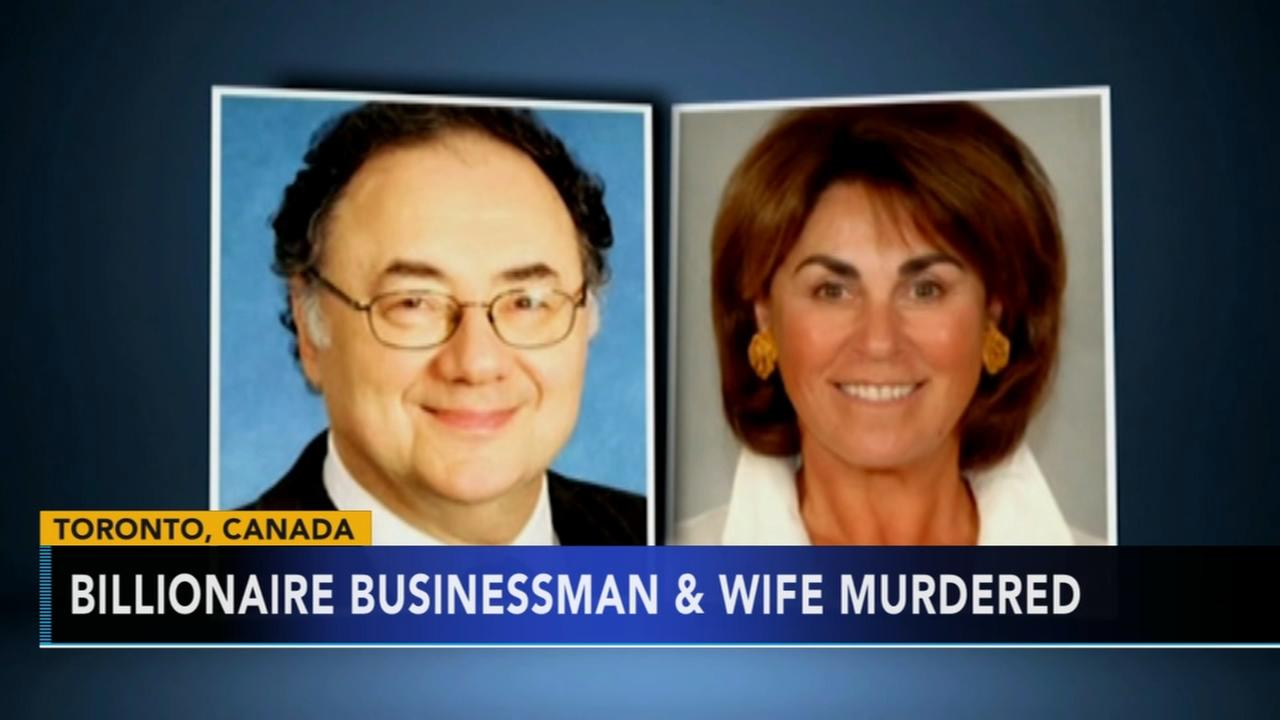 Police say Canadian billionaire, wife apparently murdered