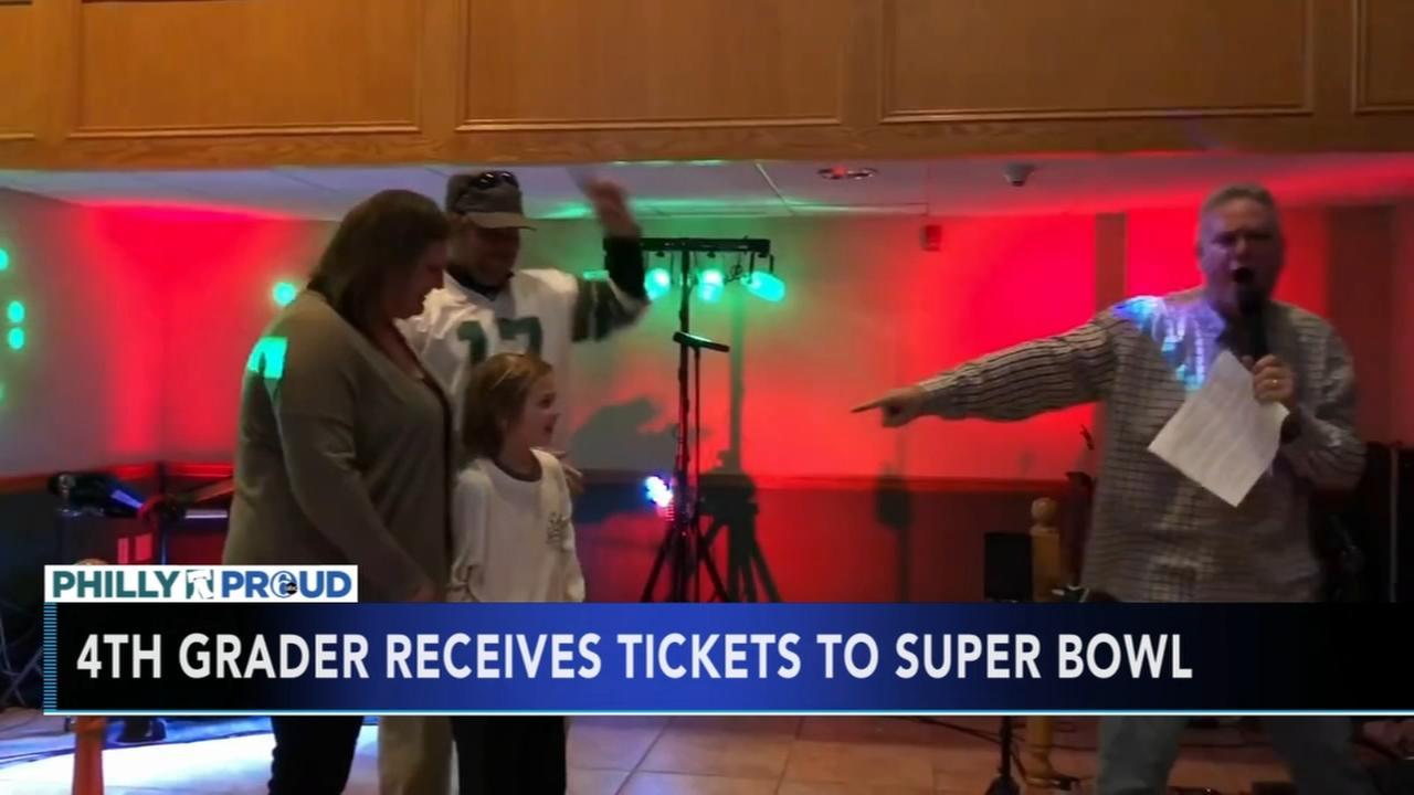 4th grader receives Super Bowl tickets
