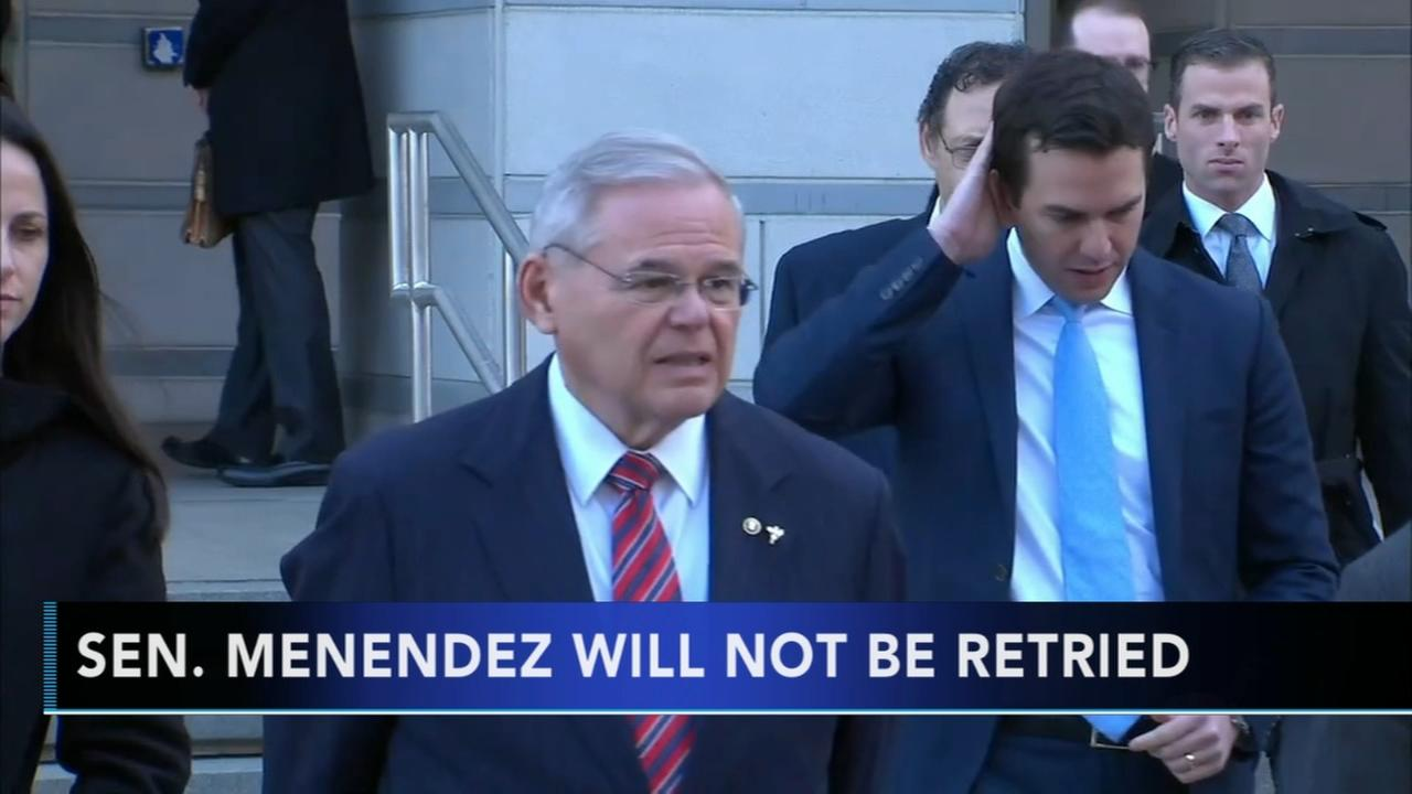Prosecutors drop charges against Sen. Menendez in bribery case