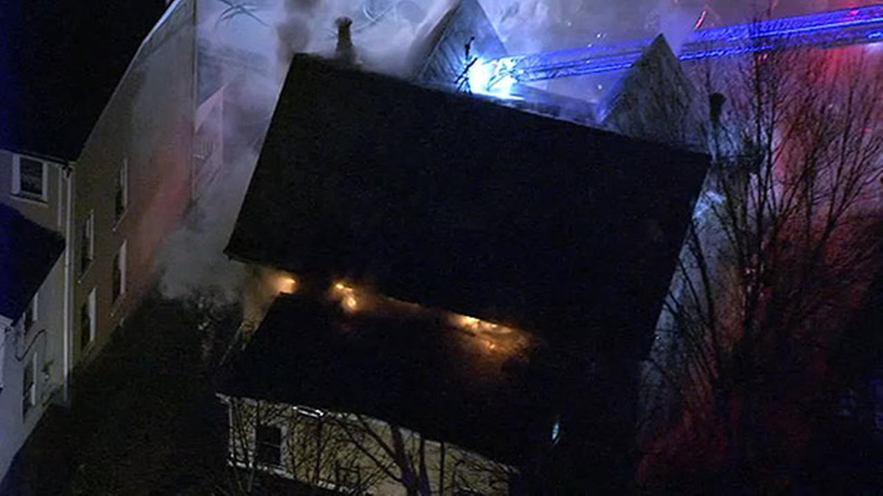 Firefighters battle 2-alarm blaze in Norristown