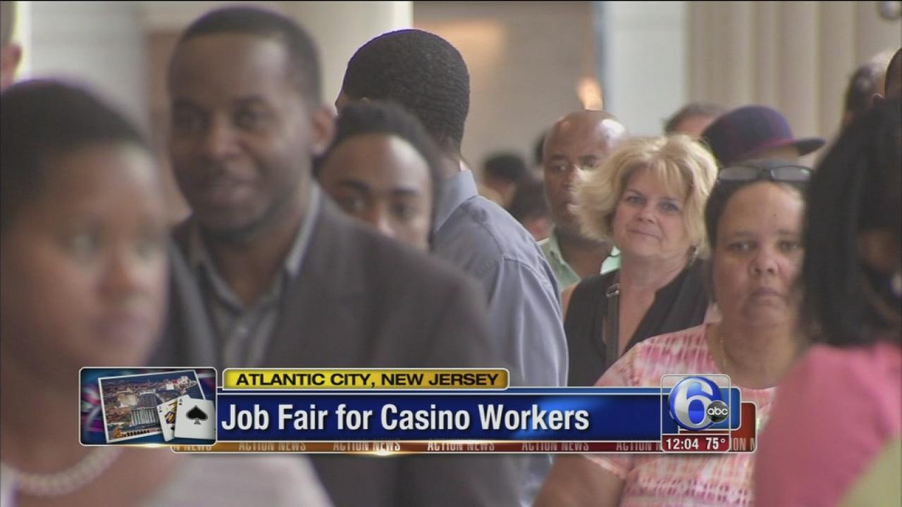 VIDEO: Job fair for laid-off casino workers