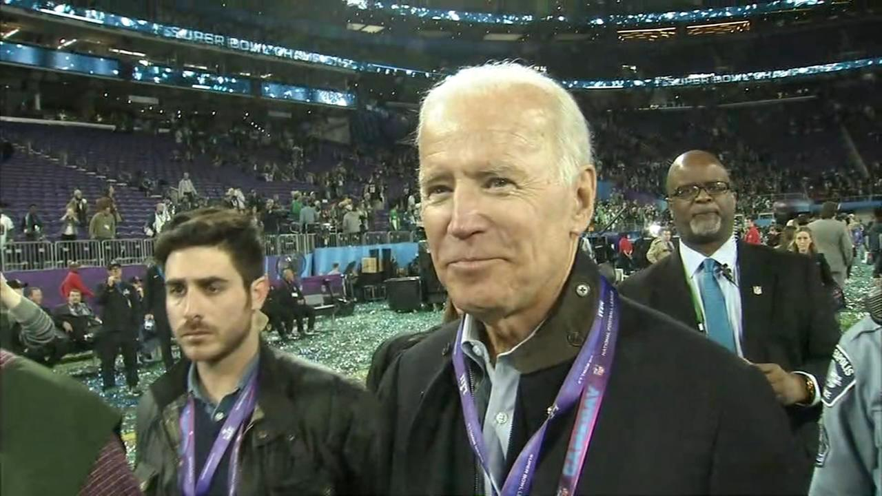 Joe Biden excited over Eagles win