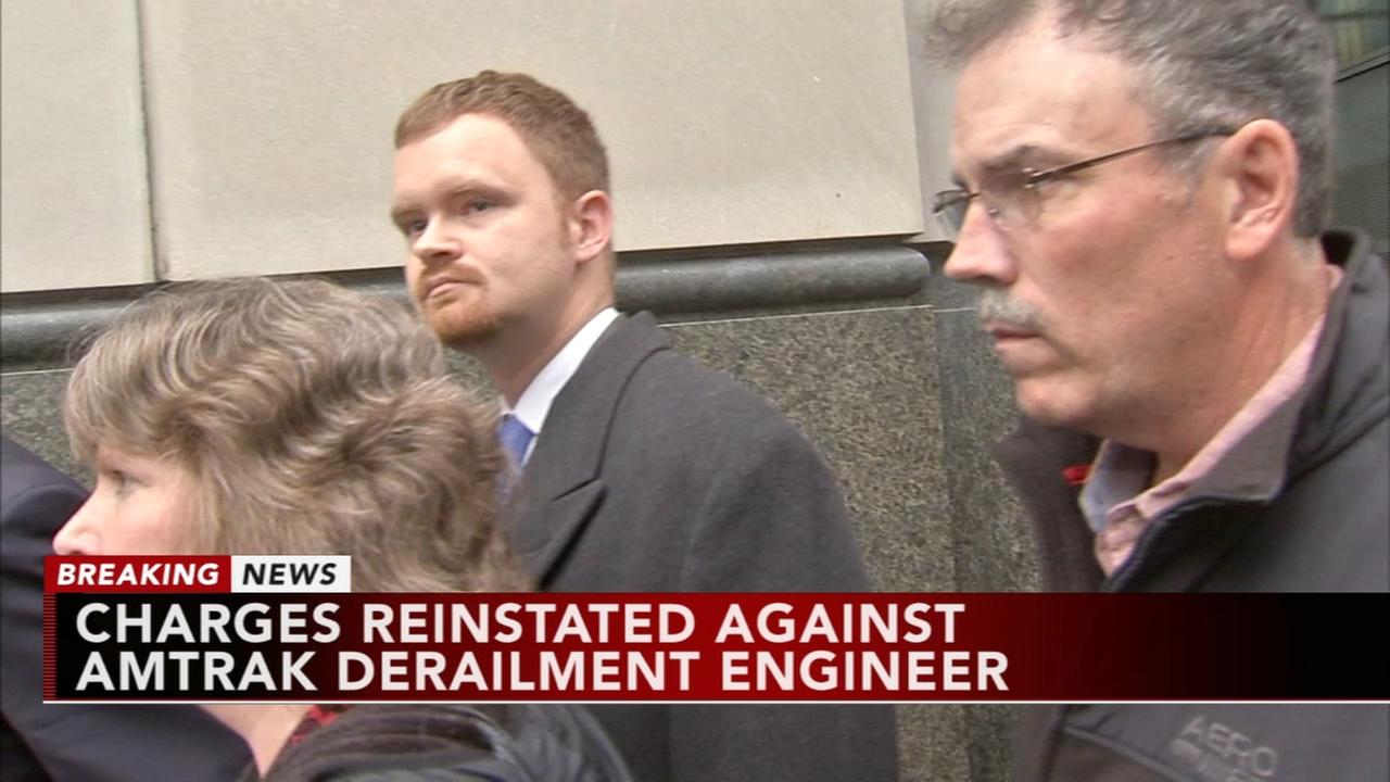 Charges reinstated against engineer in deadly Amtrak wreck