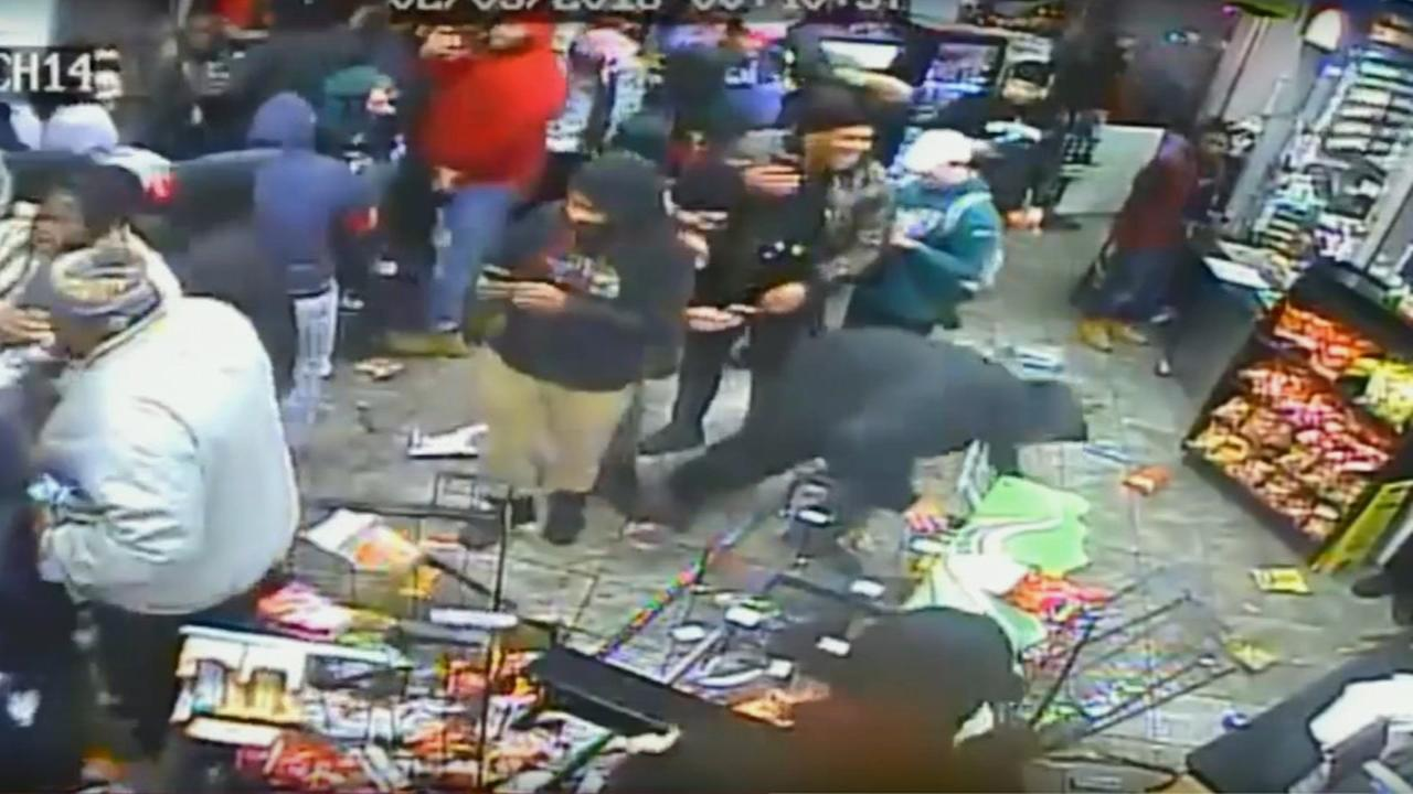 Sunoco Gas Station vandalized after Super Bowl in South Philly