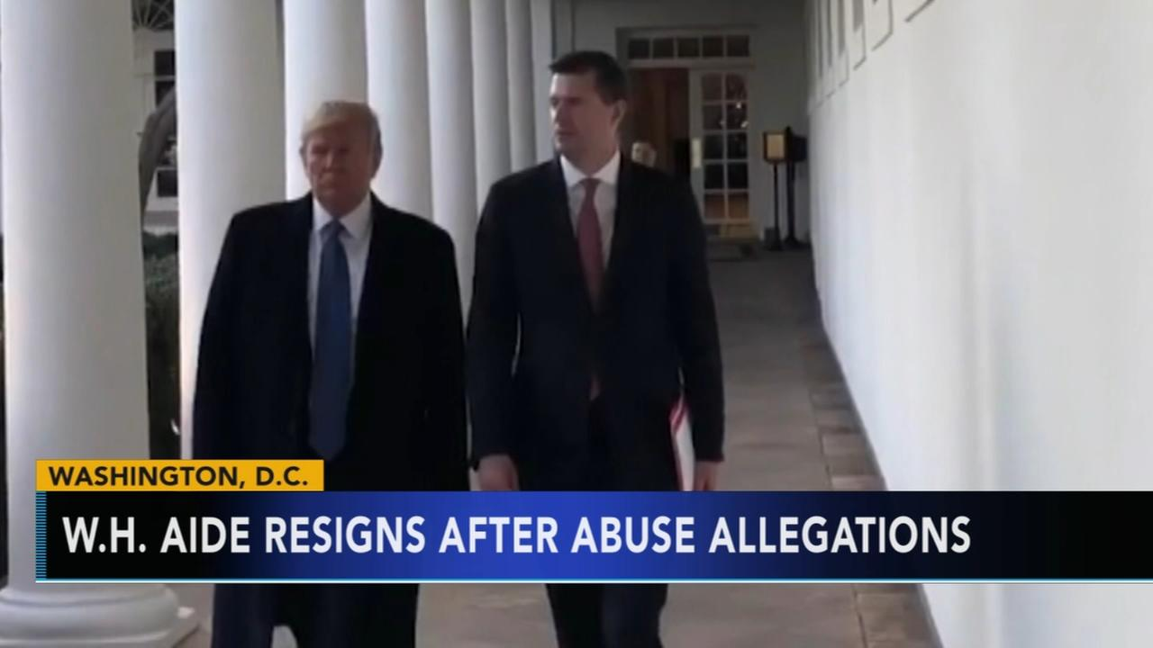 White House aide resigns after abuse allegations