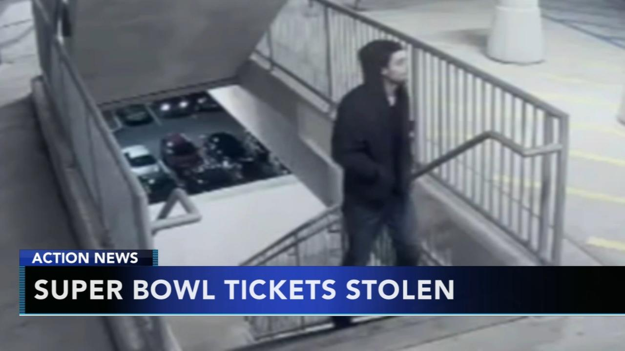 Suspects sought after stealing Super Bowl tickets from parked car