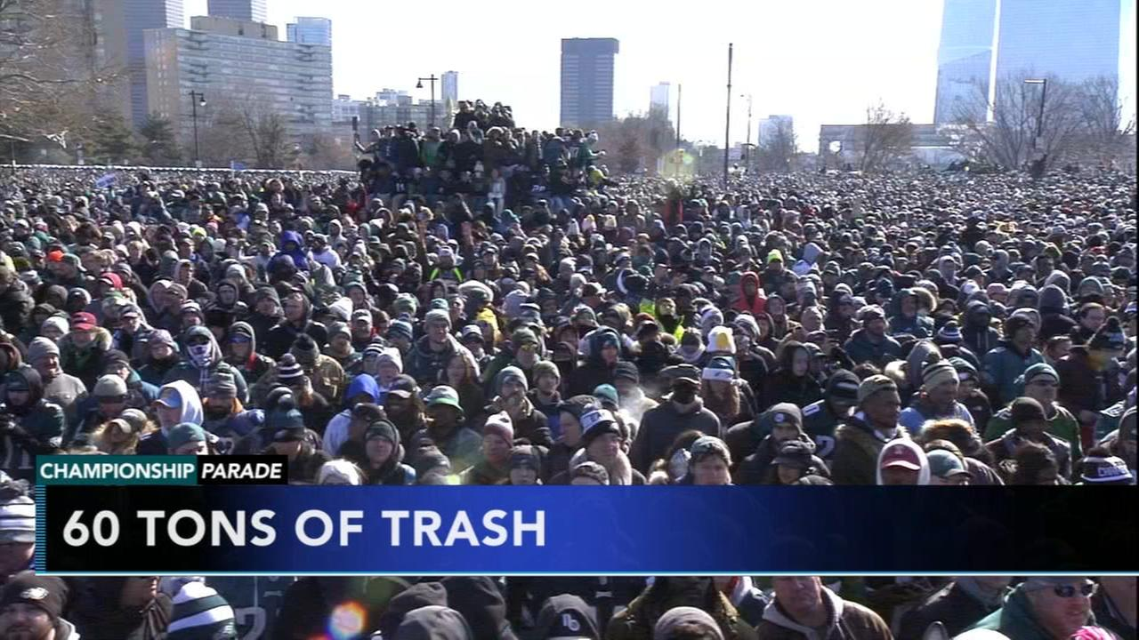 The city breaks down the numbers of the Eagles Parade