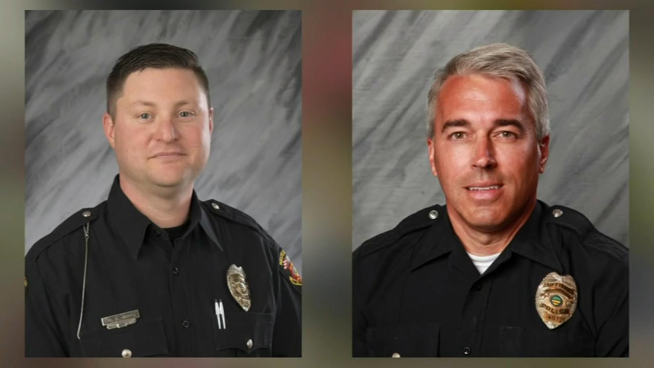 Flags at half-staff to honor 2 slain Ohio police officers