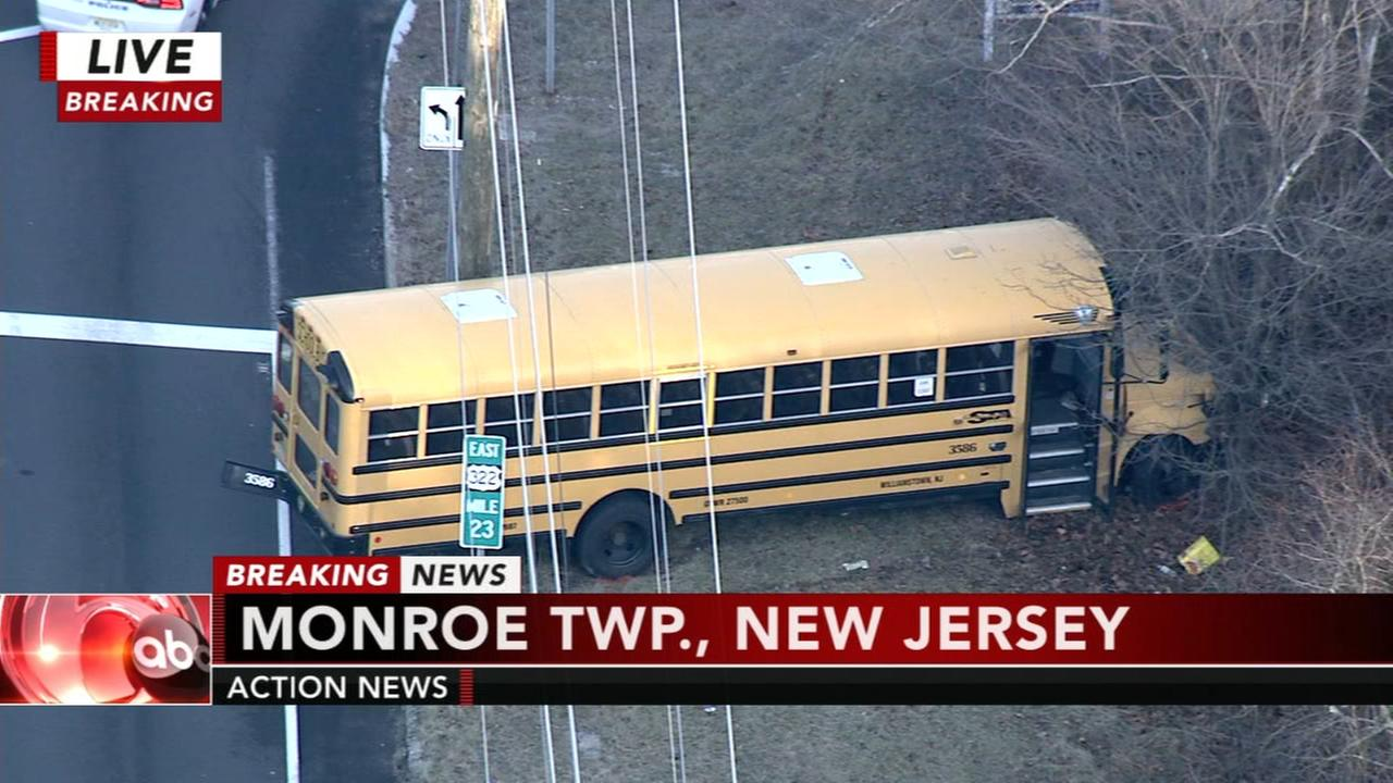 School bus crashes in Monroe Township