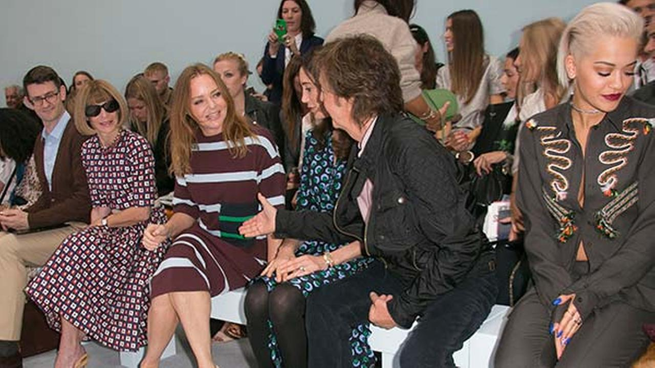 Paul Stella McCartney Front Row At Hunters Show