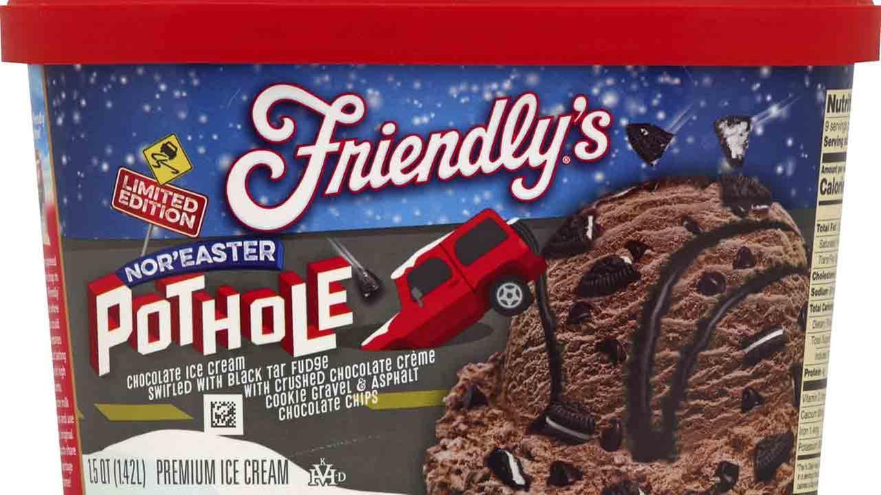 Friendlys Noreast Pothole ice cream.