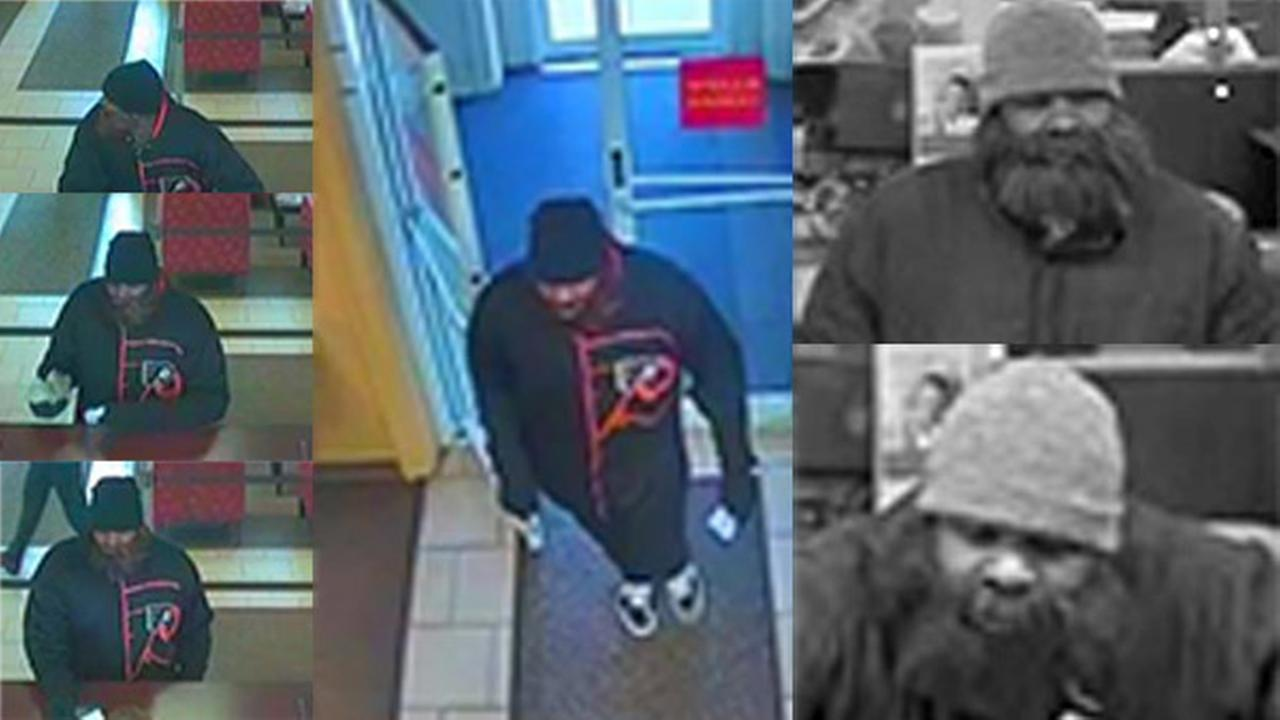 Serial bank robber caught on camera in Bucks County