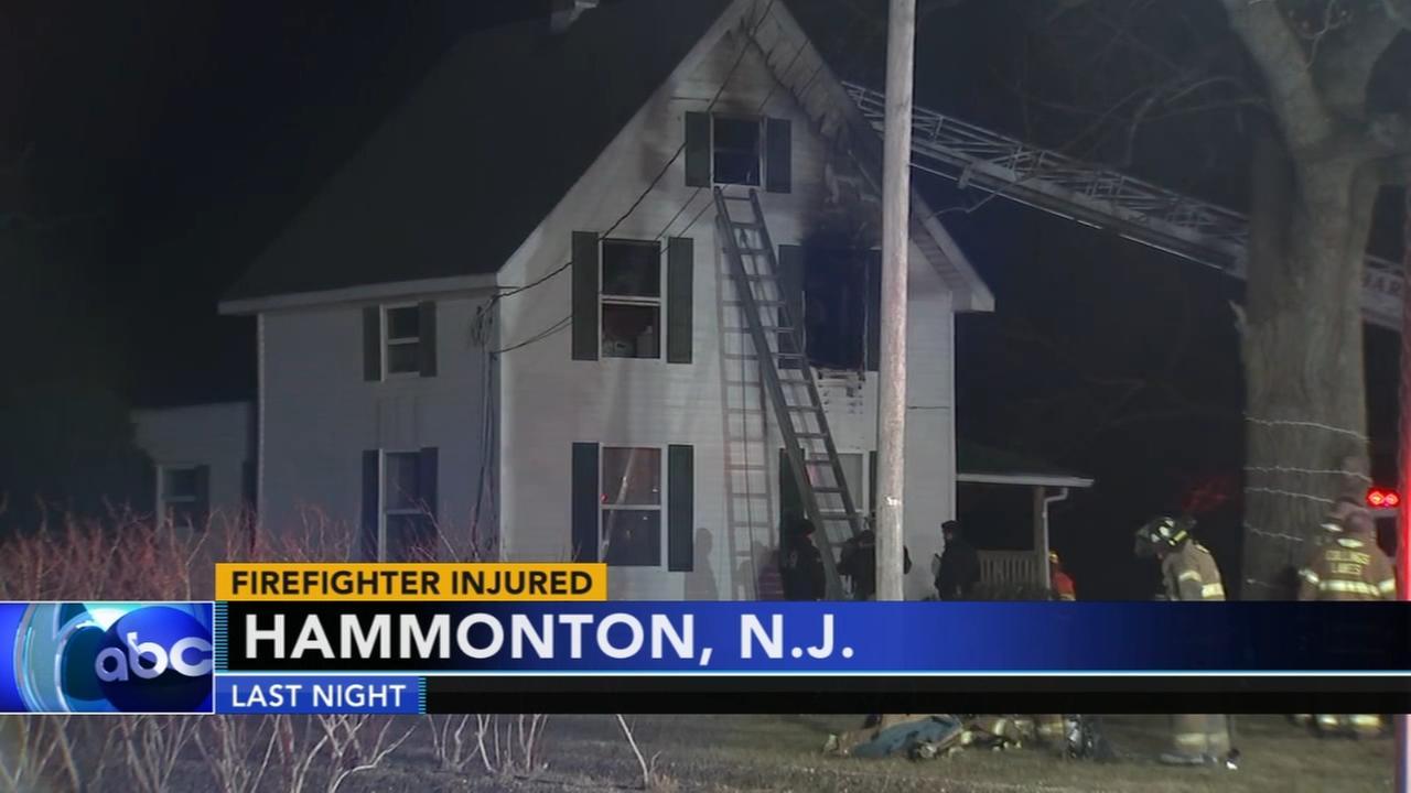 Firefighter injured in Hammonton fire
