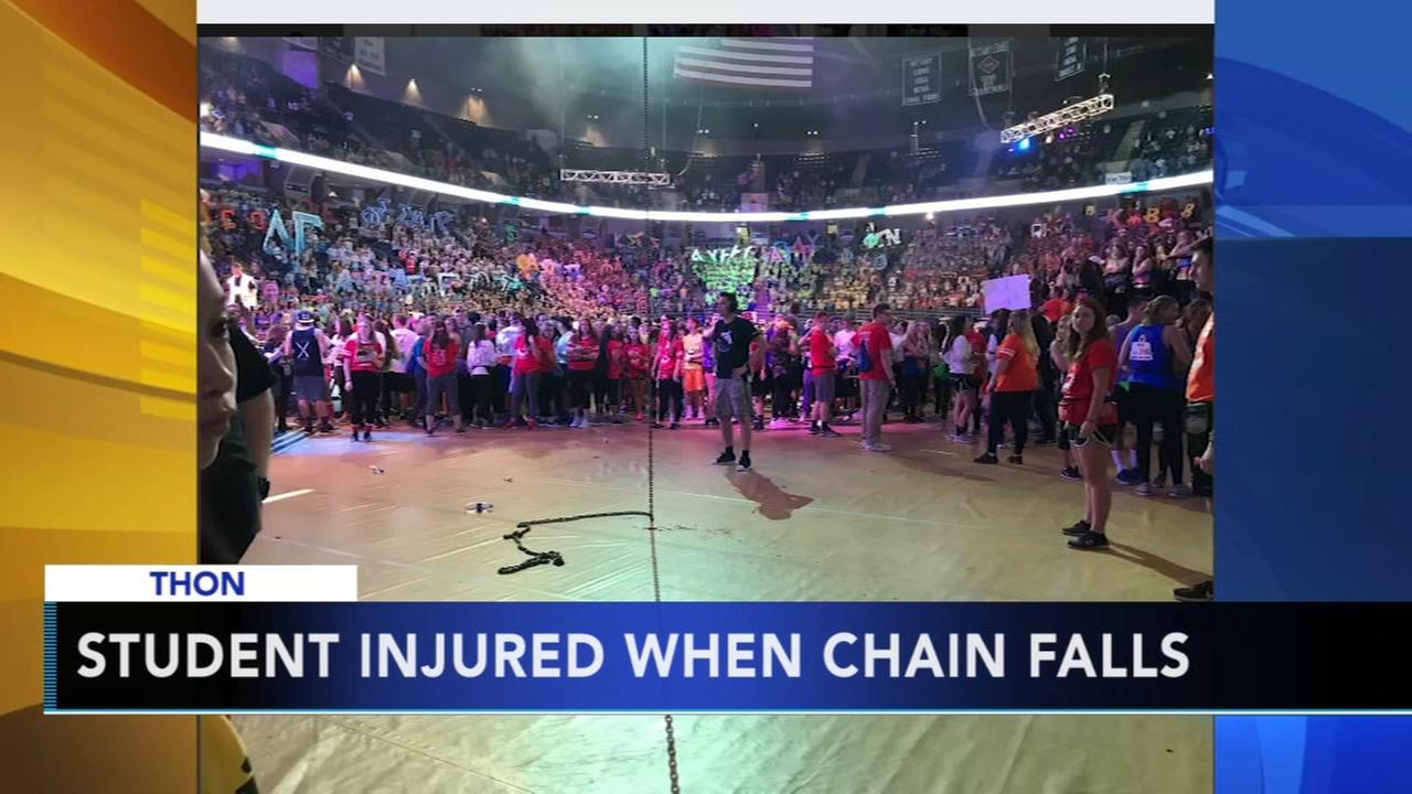 Student injured after chain falls from ceiling during Penn States THON