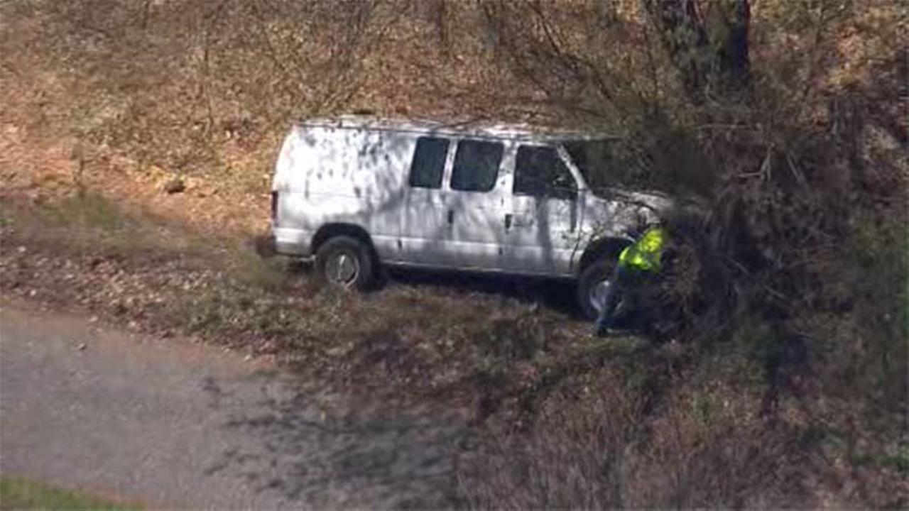 Van crashes into tree in Concord Twp.